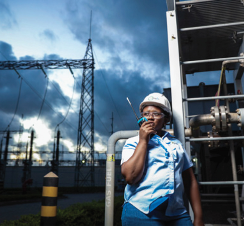 A woman working at a power station. Power Africa continues to host the Women in African Power (WiAP) network, which now has more than 600 members to share knowledge and build business opportunities across sectors, countries, and regions