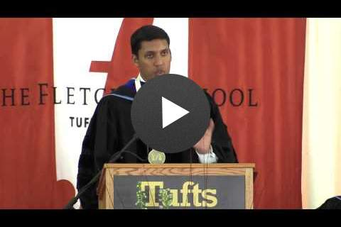 Click to view video - Administrator Rajiv Shah at Fletcher Class Day 2014