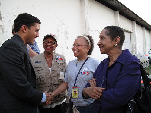 USAID Administrator Shah Meets with Haiti Staff