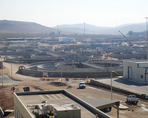 The As Samra Wastewater Treatment Plant.