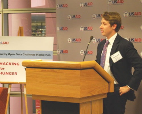 Nathaniel Manning, White House presidential innovation fellow serving as USAID special adviser on open data, introduces the Open