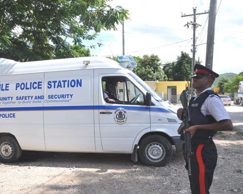 A mobile police station in the community of Tredegar Park, Spanish Town, now gives residents the confidence to walk freely, cond