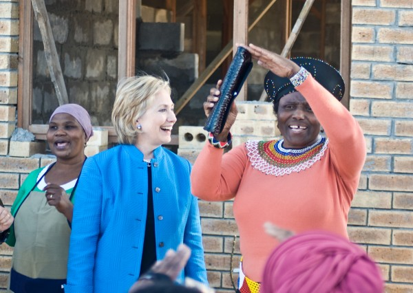 Clinton in Khayelitsha