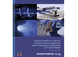 Cover image of the Digital Health Broadband Commission Report