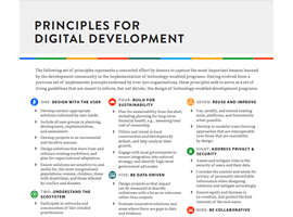 Cover image of the Principles for Digital Development