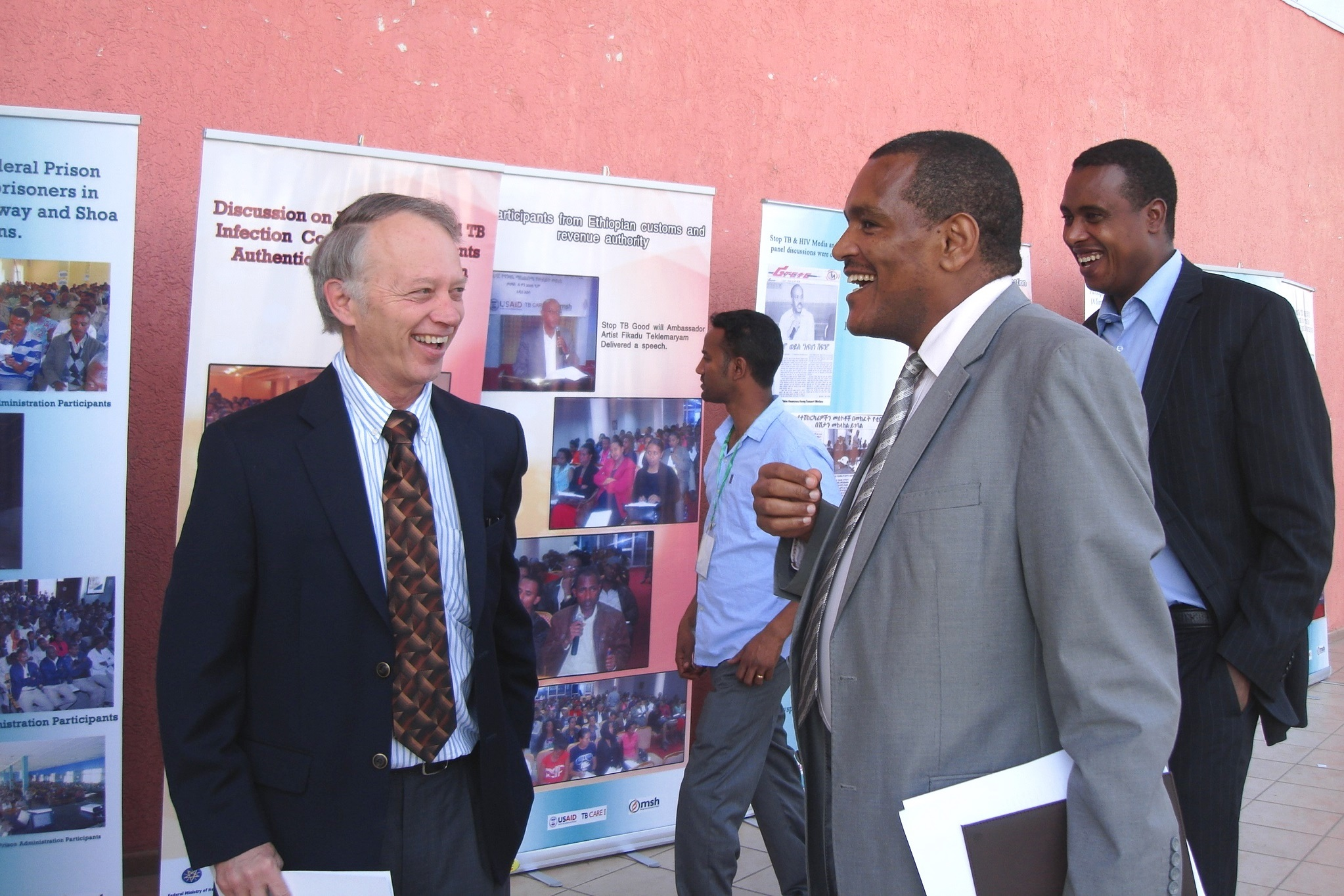 USAID Ethiopia Mission Director Dennis Weller (left) and xxxx (right)