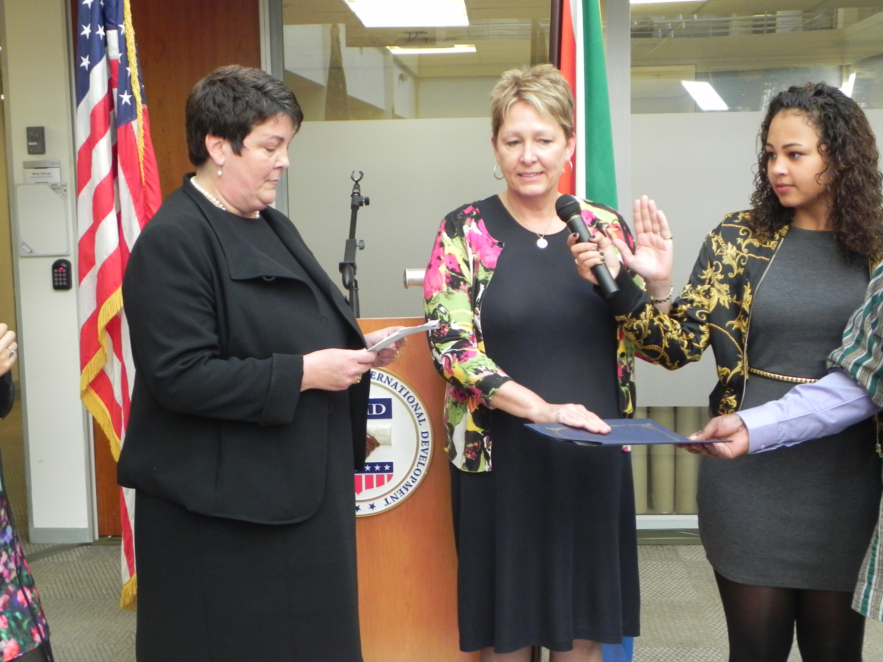 Swearing in of Mission Director Cheryl Anderson
