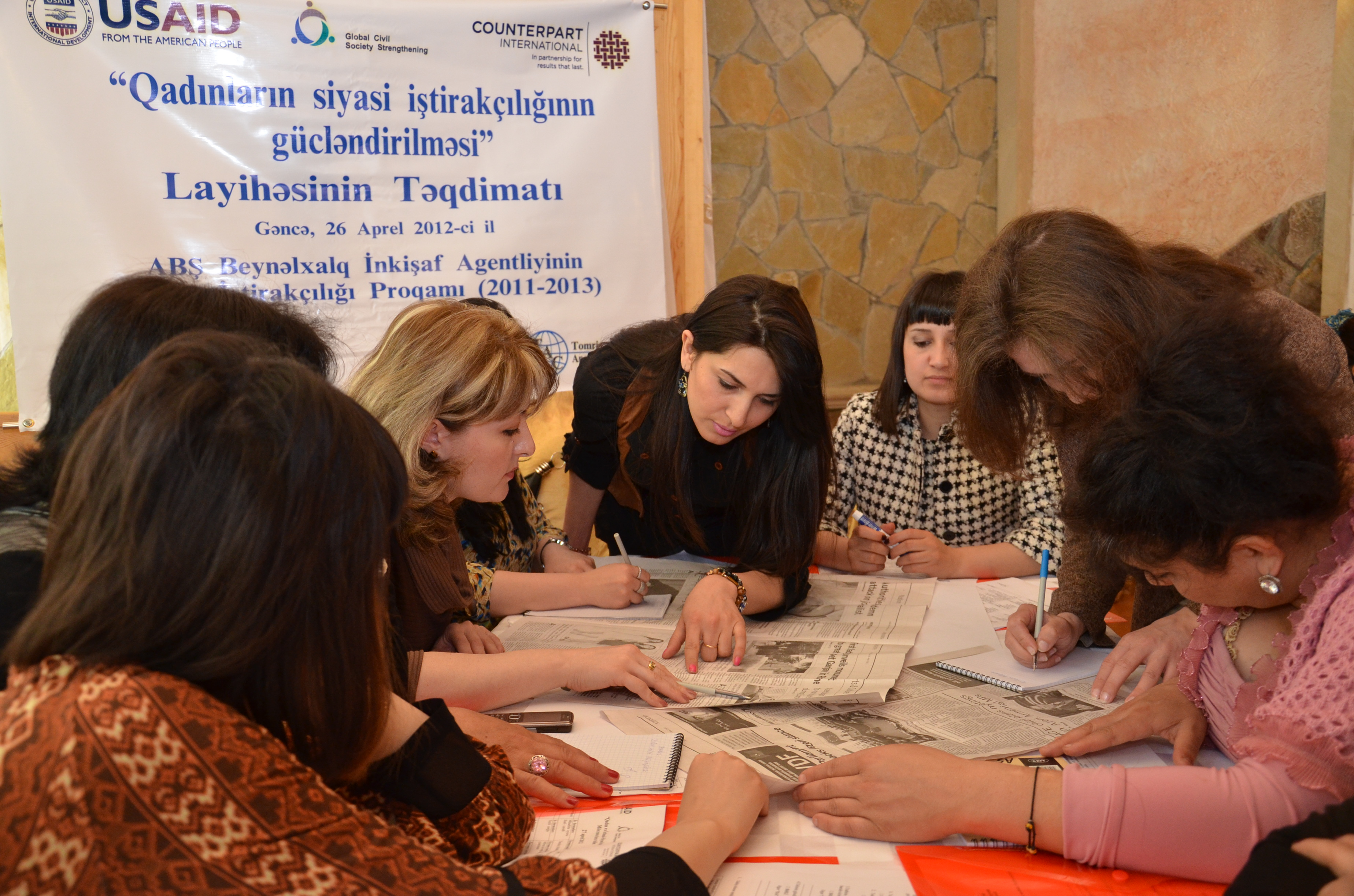 Young women from Ganja and Samukh participate in a training event under WPP