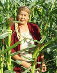 Sabira Jumabaeva, a corn-field owner in Kyrgyzstan, yielded 15 tons of corn in 2010 thanks to high-quality seeds provided by Eur