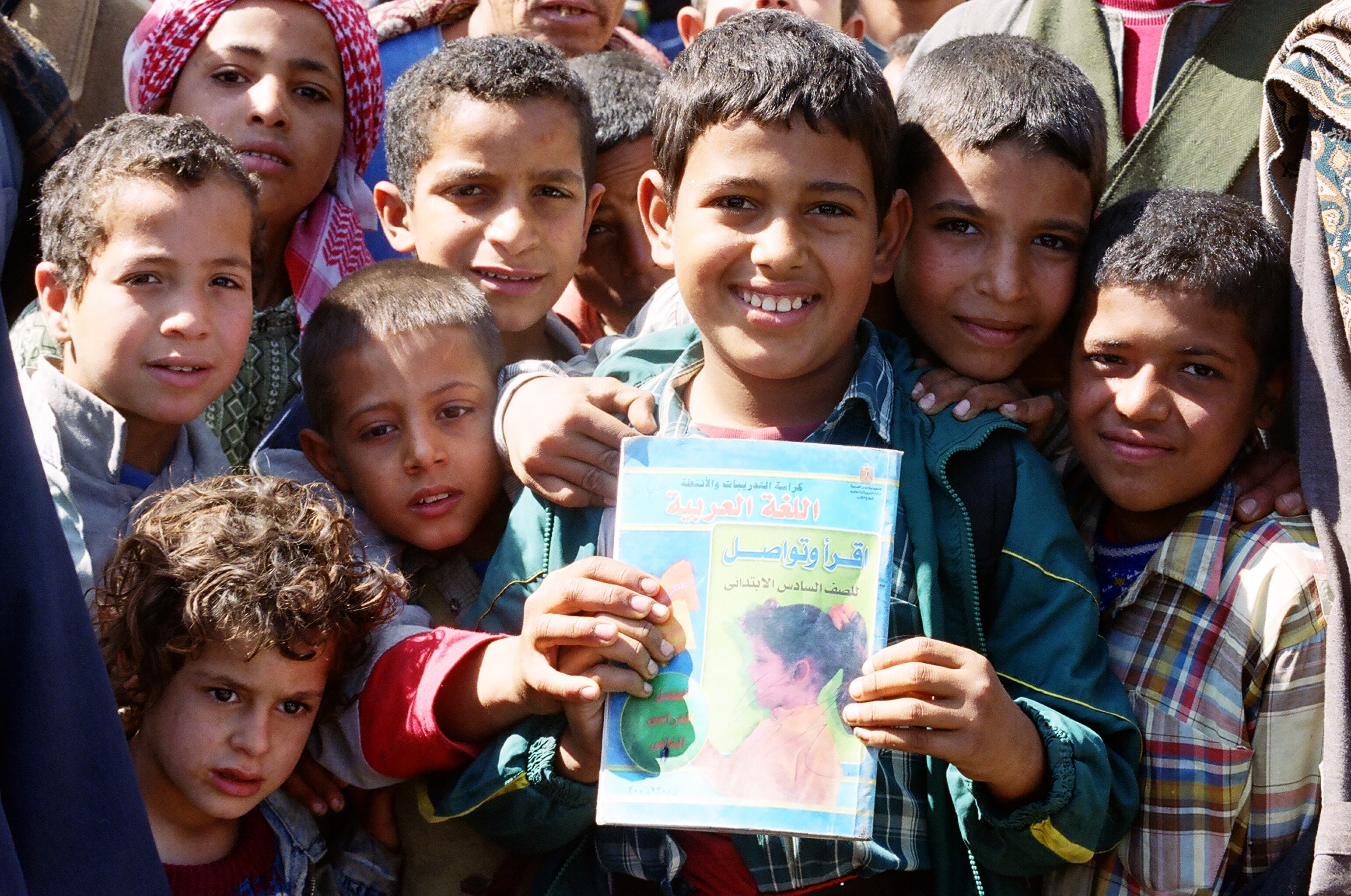Image of group of boys in Egypt.