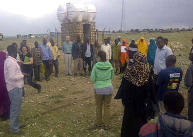 Visiting a USAID water program implemented by the International Rescue Committee (IRC) near Jijiga, Somali region, Ethiopia.