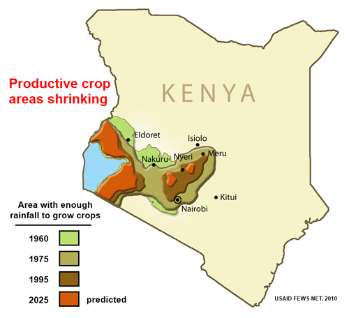 Map of productive crop areas