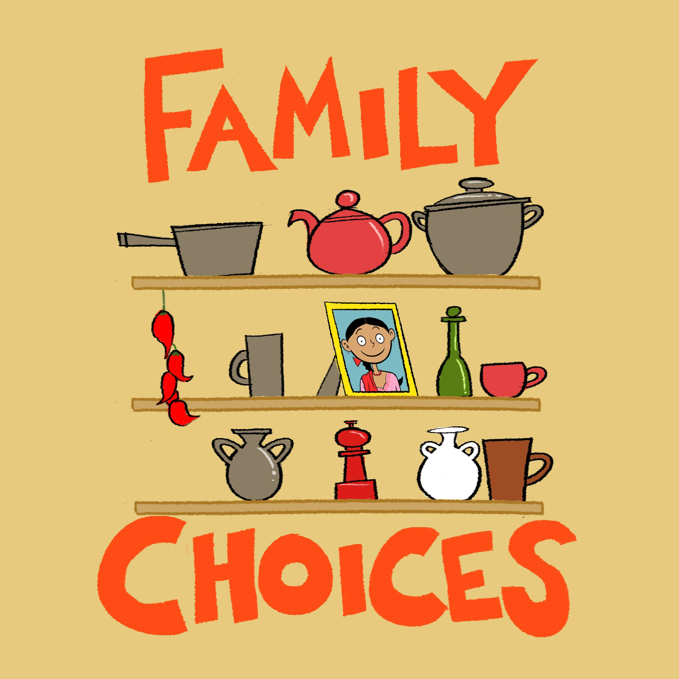 Title screen of Family Choices mobile game