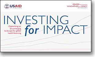 Cover of the Investing for Impact report.