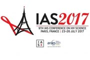 Logo for IAS2017. 9th IAS conference on HIV Science. Paris, France. 23-26 July 2017.