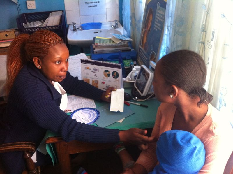 USAID provides training and mentoring support to health workers at Marondera Blue Star Clinic in Bulawayo making family planning