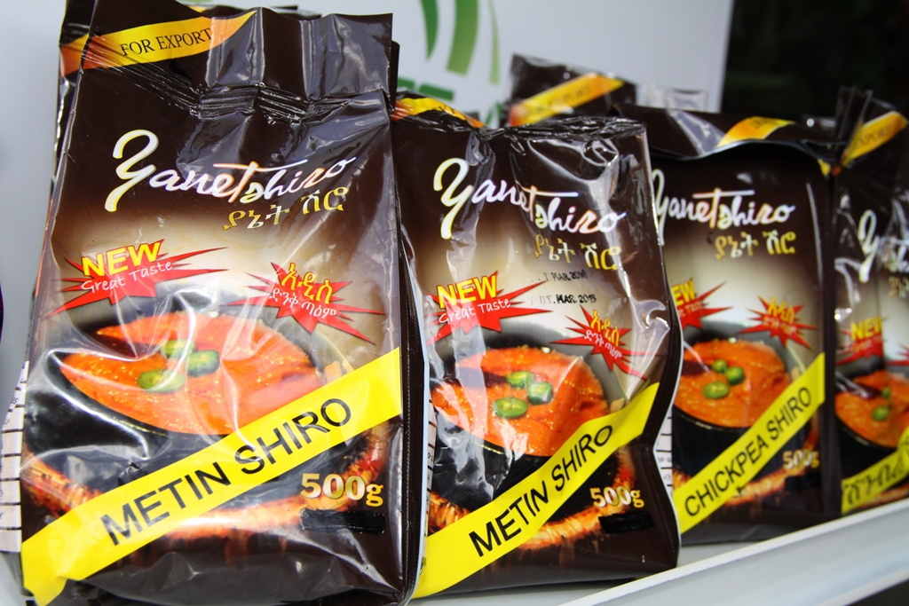 "Guts Agro Industry's new ready to cook chickpea shiro powder branded as ""Yanetshiro."""