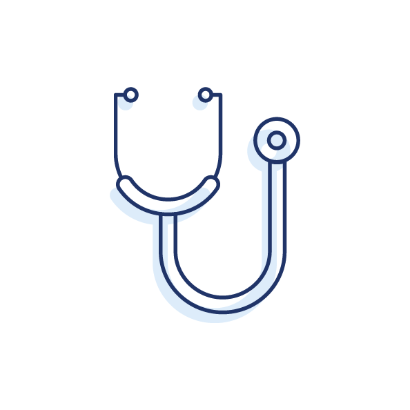 Icon of stethoscope