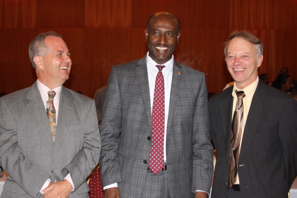 Save the Children Deputy Country Director, Federal HAPCO Director General, and USAID Ethiopia Mission Director.