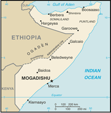 Map of Somalia