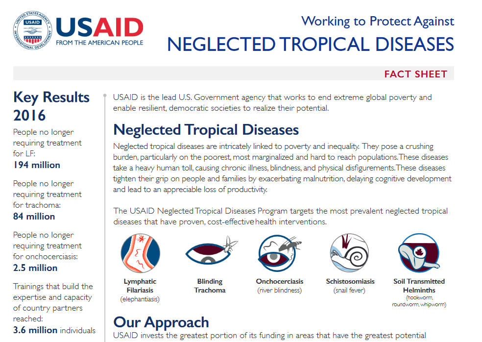 Screenshot of the NTD Fact Sheet cover.