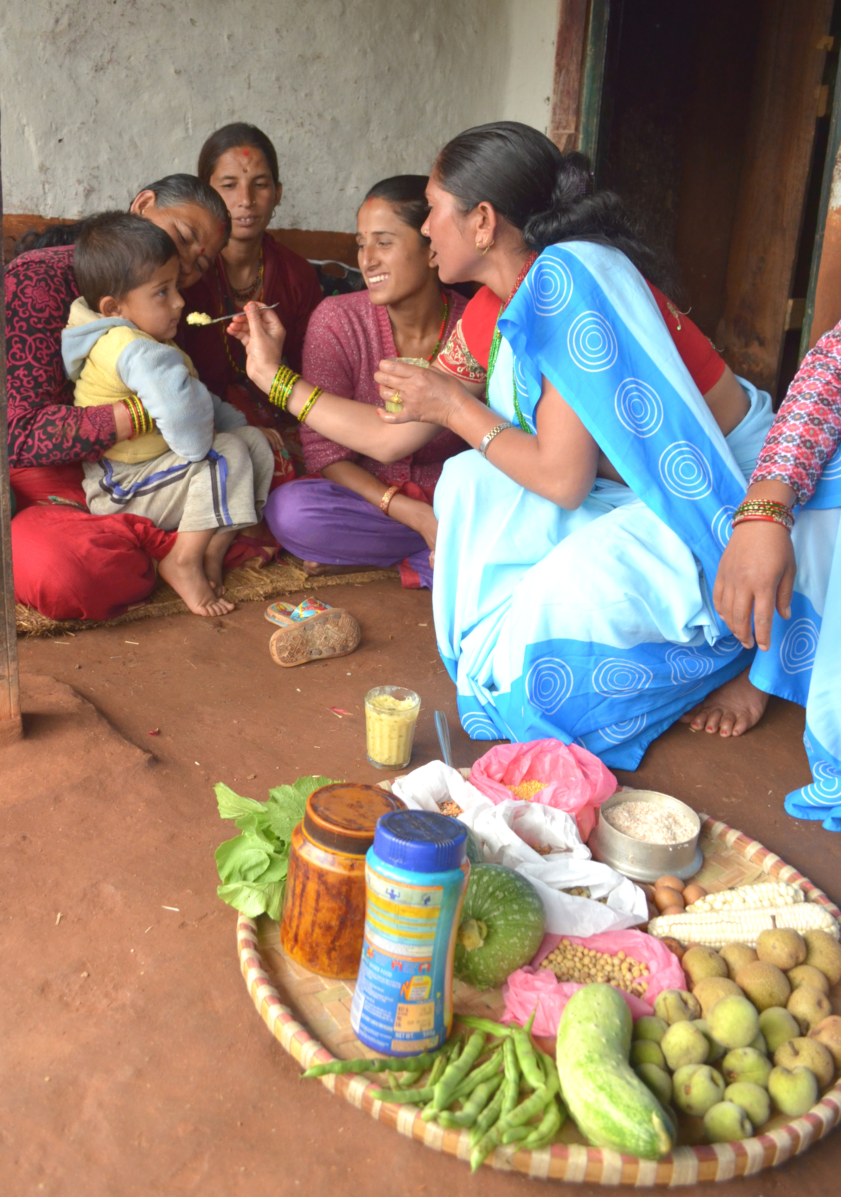 Nepal's 50,000-plus female community health volunteers play an integral role in promoting Suaahara's health services.