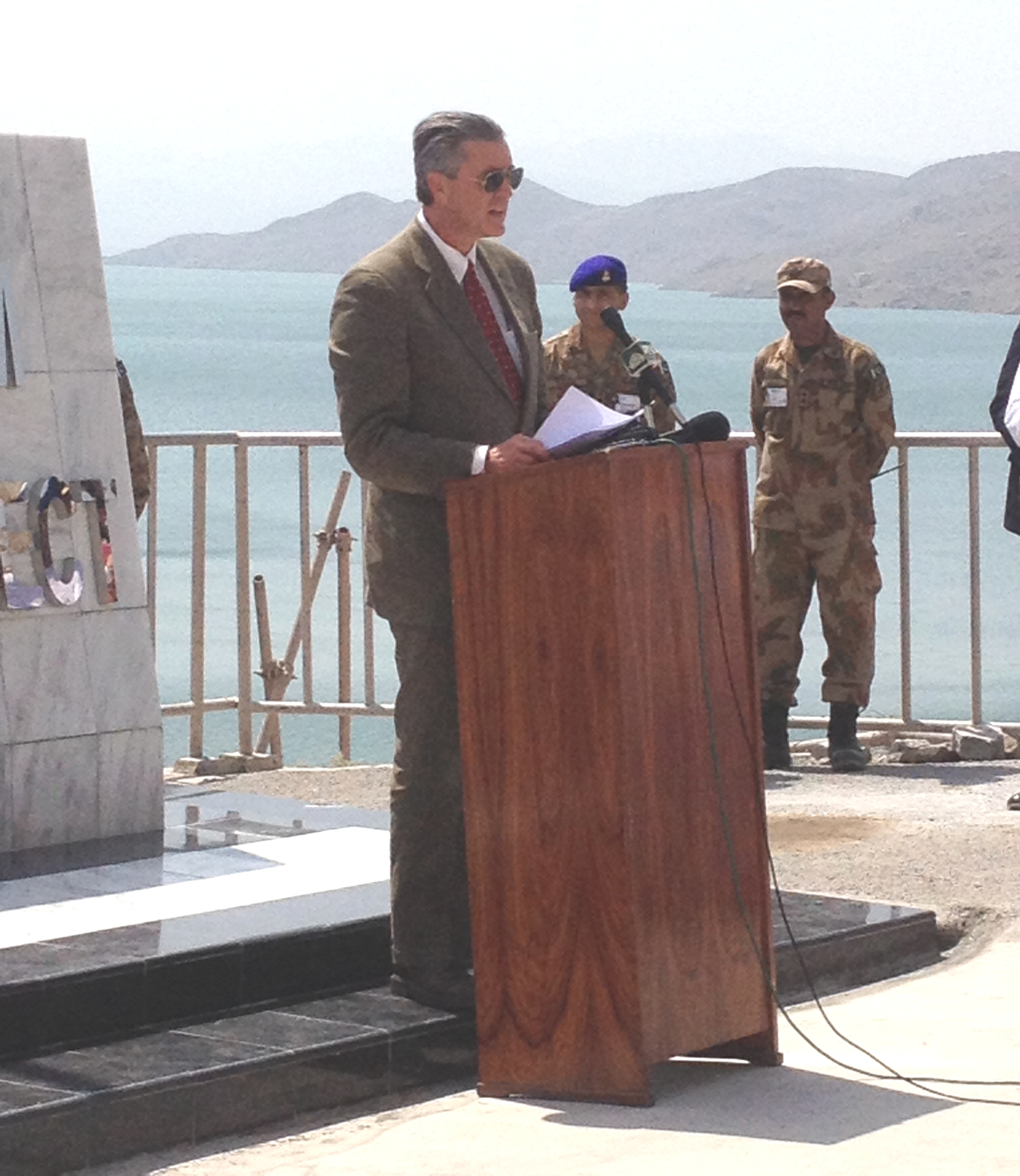 Ambassador Richard G. Olson at Gomal Zam inauguration