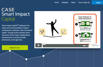 Screen grab from CASE Smart Impact home page