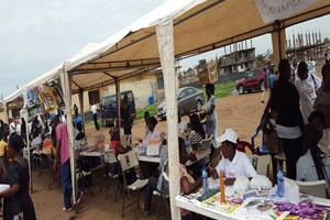 TB testing booths in Ghana for World TB Day