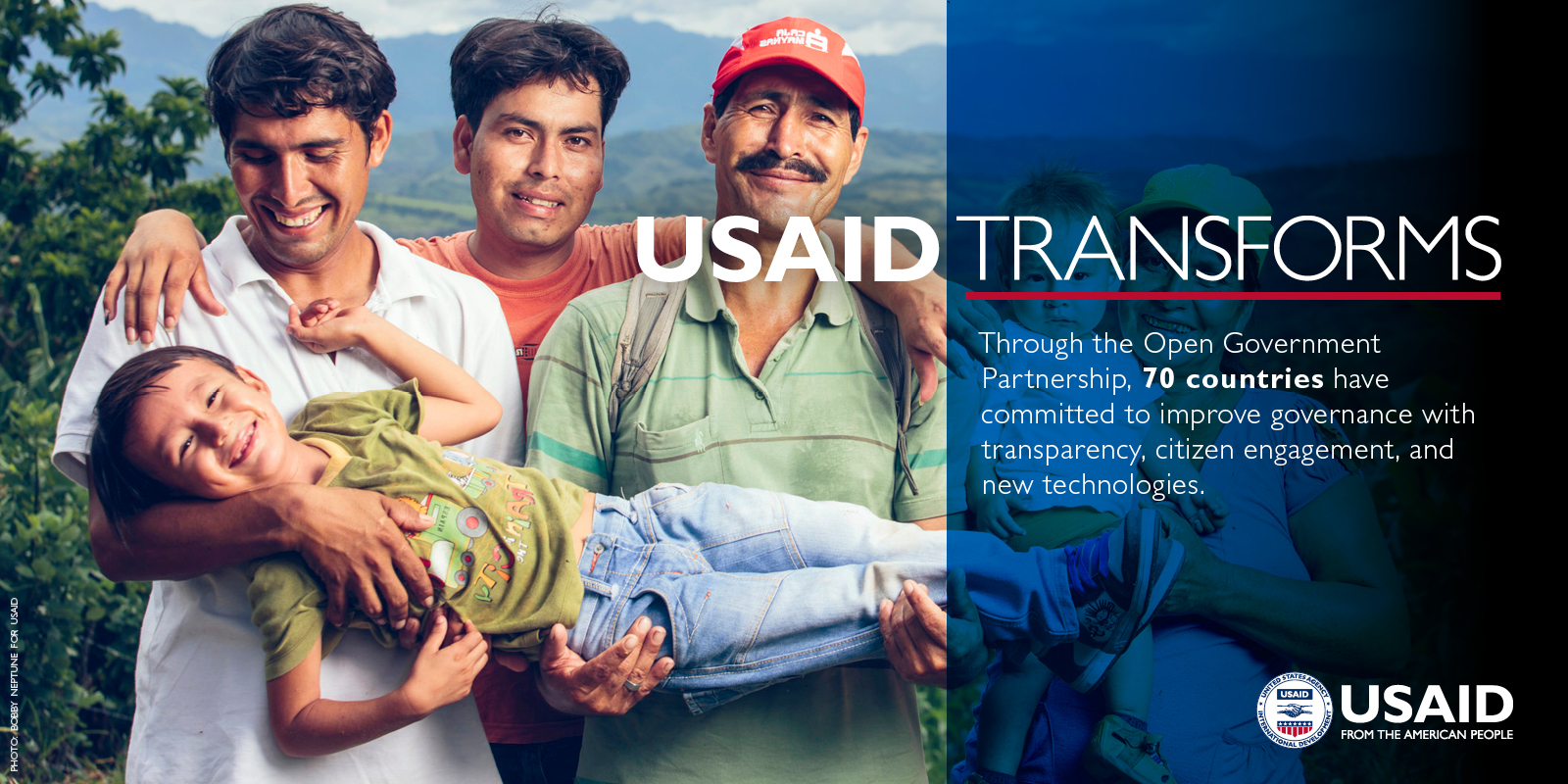 USAID Transforms: Through the Open Government Partnership, 70 countries have committed to improve governance with transparency, citizen engagement, and new technologies. Photo: Bobby Neptune for USAID.