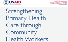 Cover for Strengthening Primary Health Care through Community Health Workers