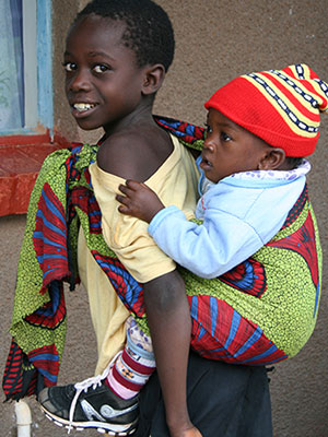 Photo of two children in Zambia.