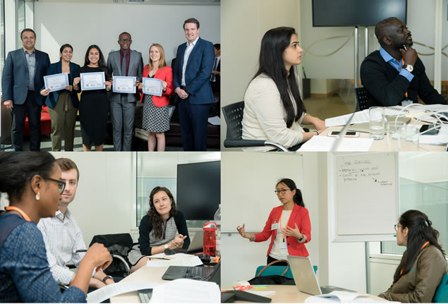 A collage of photos from the GSK/Kellogg/USAID Global Health Case Competition. Photo: Tom Whipps/GlaxoSmithKline