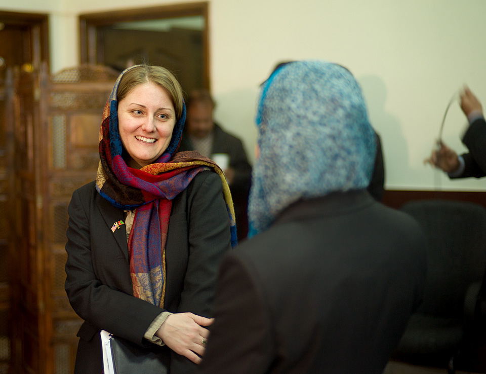Women in Government Internship Program is launched in Afghanistan.