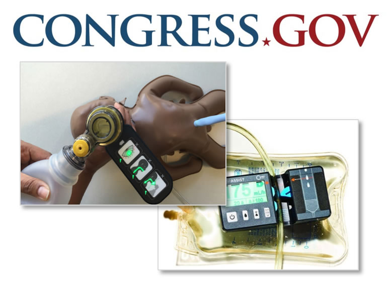 Congress.gov logo and two collage photos of health innovations.