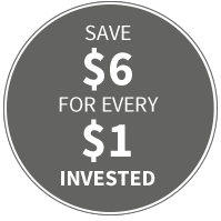 Save $6 for every $1 Invested