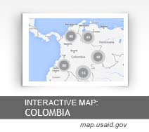 Interactive Map:  Colombia map.usaid.gov