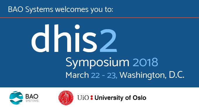 Graphic for the DHIS 2 Symposium