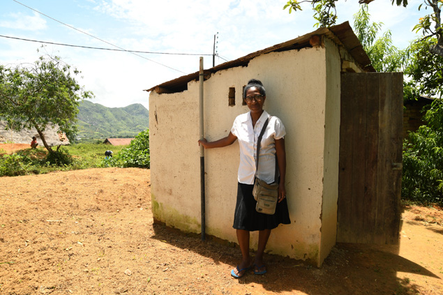 Practicing sanitation and hygiene in Madagascar.