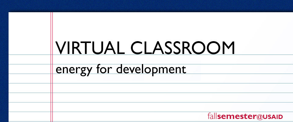 Virtual Classroom: Energy for Development