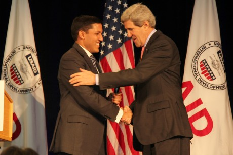 Administrator Rajiv Shah and Secretary of State John Kerry.