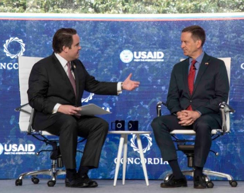 Photo: USAID Administrator Mark Green's Participation in a Fireside Chat with Concordia Co-Founder, Chairman, and CEO Matthew A. Swift