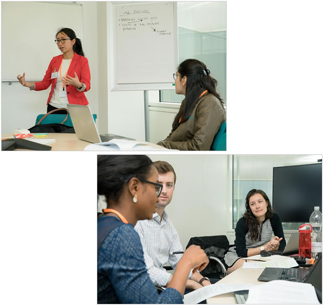 Two photos from the GSK/Kellogg/USAID Global Health Case Competition.
