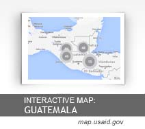 Interactive Map:  Guatemala map.usaid.gov