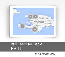 Interactive Map:  Haiti map.usaid.gov