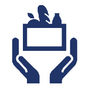 Icon: Hands holding a relief package