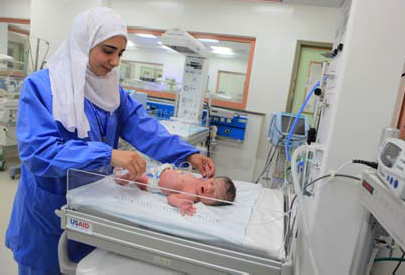 USAID has equipped Ministry of Health hospitals with life-saving neonatal equipment, contributing to the improved survival of cr