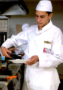 Jordanian man cooking