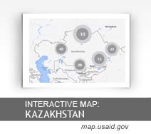 Interactive Map: Kazakhstan map.usaid.gov