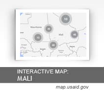 Interactive Map: Mali map.usaid.gov